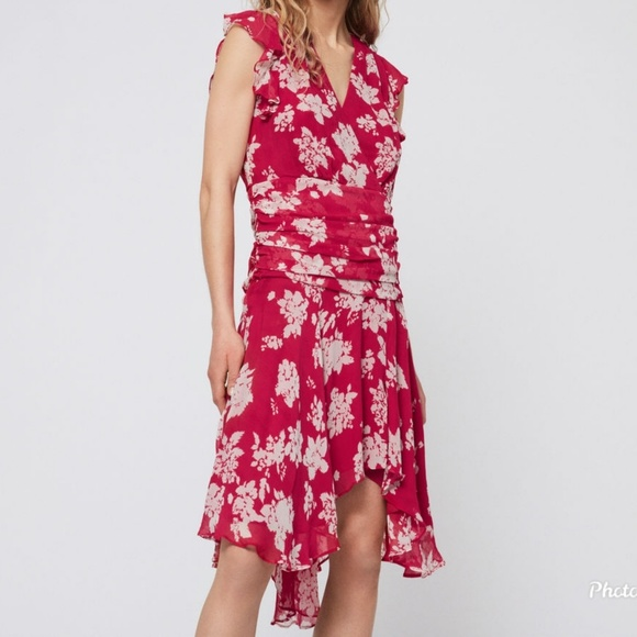 All Saints Dresses & Skirts - AllSaints Caris Lea Dress Hot Pink